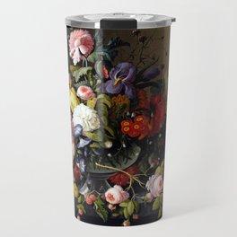 Severin Roesen Still Life, Flowers and Fruit Travel Mug