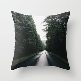 Middle of the road Canada Throw Pillow