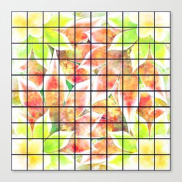 abstract floral background Canvas Print