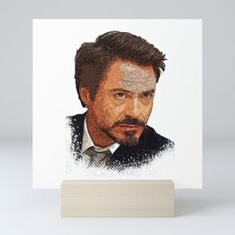 Robert Downey Jr Desain 002 Mini Art Print