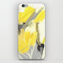 Abstract Yellow Painting - Minimalist Art Print - Home Decor iPhone Skin
