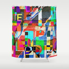 Colage 1 Shower Curtain