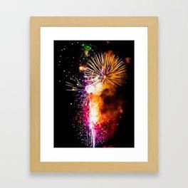Fireworks Display Addison Texas Kaboom Town 2017 Framed Art Print