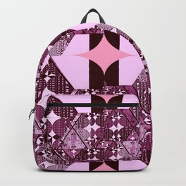 pink and purple diamonds Backpack