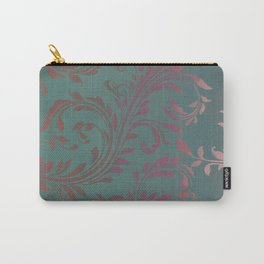 Ombre Damask Teal and Pink Carry-All Pouch