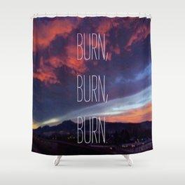 Boulder Sunset Shower Curtain