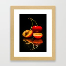 Fruit split Framed Art Print
