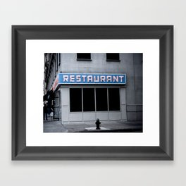 The [Seinfeld] Diner Framed Art Print