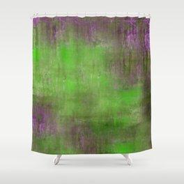 Green Color Fog Shower Curtain