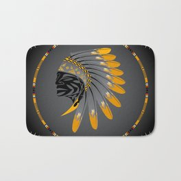 Honor and Strength Yellow Bath Mat