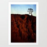 Lonely Leaner Art Print