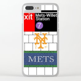 NYC Subway Clear iPhone Case