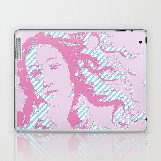 Rebirth of Venus - Pink & Cyan - Trans Pride! Laptop & iPad Skin