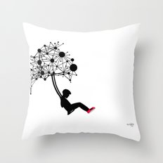 the Swingset Throw Pillow
