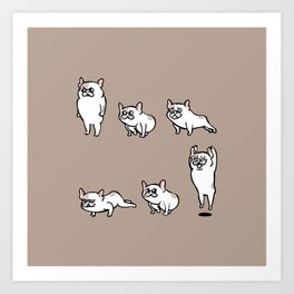 French Bulldog Burpees Art Print