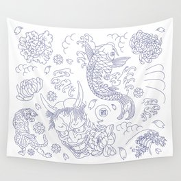 Japanese Tattoo Wall Tapestry