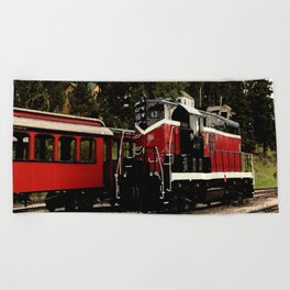 Black Hills Diesel Locmotive # 63 Abstract Beach Towel
