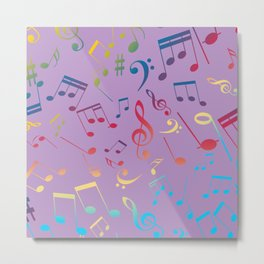Musical Notes 7 Metal Print