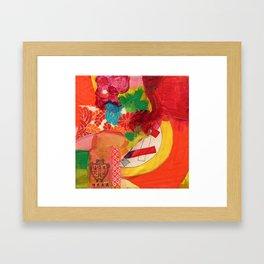 Kimono Garden Framed Art Print