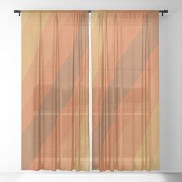 Retro Sunlight Sheer Curtain