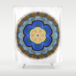 Hyperspace Portal Innerstanding Meditation Mandala Boho Floral Trip Shower Curtain