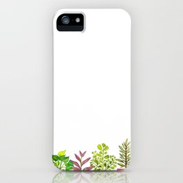 Indoor Plant Collection in White iPhone Case