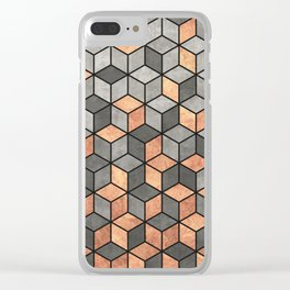 Concrete and Copper Cubes Clear iPhone Case