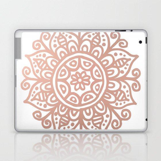 Rose Gold Floral Mandala Laptop & iPad Skin
