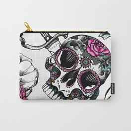 Sugar skull colorful Carry-All Pouch