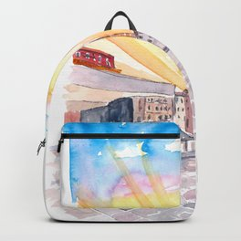 Quiet Campo Sant Angelo with View of Santo Stefano in Venice Backpack