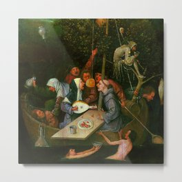 "Hieronymus Bosch ""The Ship of Fools"" Metal Print"