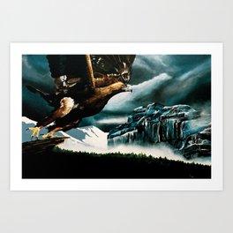 Storm in Flight Art Print