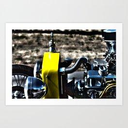 HDR Bucket Roadster Engine Art Print