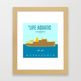 The Life Aquatic - Alternative Movie Poster Framed Art Print