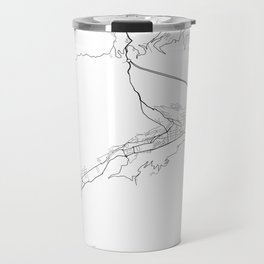 Minimal City Maps - Map Of Andorra La Vella, Andorra. Travel Mug
