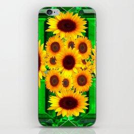 SPRING GREEN EMERALDS & YELLOW FLOWERS  ART iPhone Skin