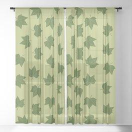summer leaves Sheer Curtain