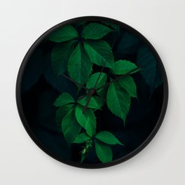 Leaves by Rodion Kutsaev Wall Clock