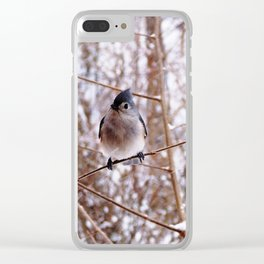 Tufted Titmouse Bird Clear iPhone Case