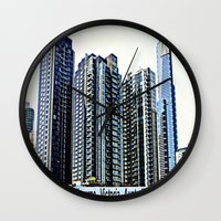 melbourne Wall Clocks featuring Melbourne CBD by Chris' Landscape Images & Designs