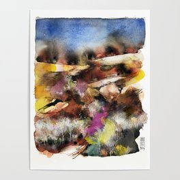 Abstract Tuscan Landscape Poster