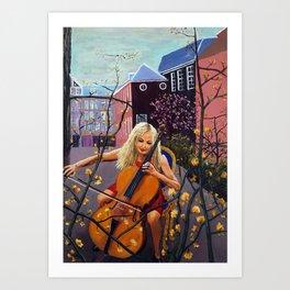 Amsterdam Cello Player Art Print