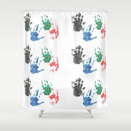 Handprints Shower Curtain