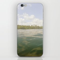 Water Reflection Sky Clouds Nature Trees Color Photography iPhone & iPod Skin