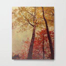 Autumn Couple Metal Print