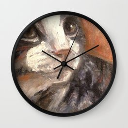 Boots the feral / art for cat lovers Wall Clock