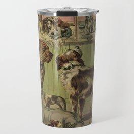 Vintage Illustration of Various Dog Breeds (1893) Travel Mug