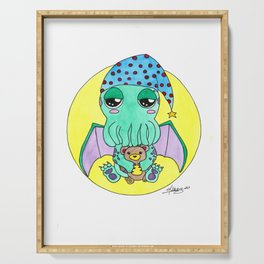 Night night Cute-thulu Serving Tray