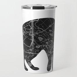 A Familiar Black Cat Travel Mug