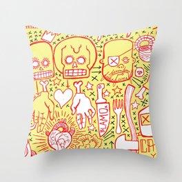 Spaghetti Throw Pillow